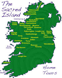 Map Of Dublin Ireland Map Of Sacred Sites Of Ireland Many Dating From 6 000 Years Ago
