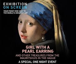 girl pearl earing exhibit on screen girl with a pearl earring and other treasures