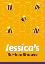 bumblebee baby shower yellow honeycomb bumble bee baby shower poster templates by canva