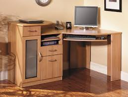 Wood Corner Desks For Home Wood Home Office Corner Desk With Keyboard Desk Design