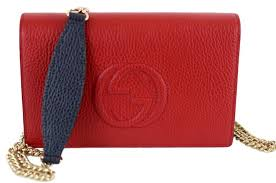 Sho Wallet gucci soho 407041 s colorblock mini chain wallet sho blue