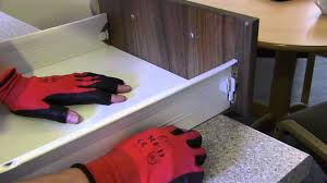 how to re attach a kitchen drawer front youtube