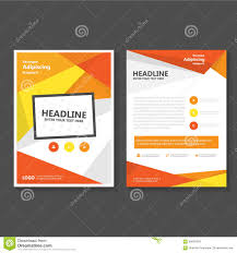 cover layout com orange yellow vector leaflet brochure flyer template design book