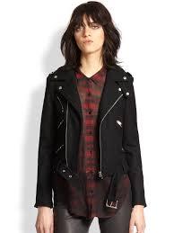 female motorcycle jackets the kooples motorcycle jacket in black lyst