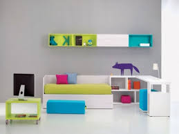 Modern Wooden Box Beds Modern Girls Room Green Contemporary Stained Wood Desk Computer