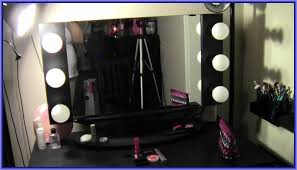 Makeup Table With Lighted Mirror Small Dressing Table Lighted Mirror For With Bulb Lamps