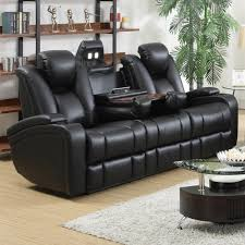 Leather Reclining Sofa Sets Black Leather Recliner Sofa Set 13 With Black Leather Recliner