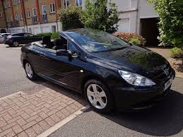 peugeot 307 cc 2004 black very low mileage 60 000 mot till