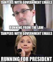 Snowden Meme - hillary vs snowden memes imgflip