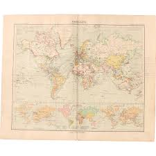 Map Of The World Art by Art Nouveau Map Of The World World Map Stieler 1905 From