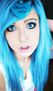 cute hair color for 40 year olds pin by claudia ramos on blue hair pinterest emo hair funky