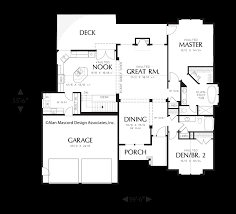 Empty Nest Floor Plans Mascord House Plan 1201j The Dawson