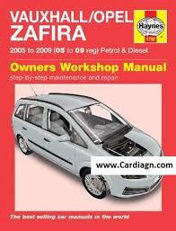 vauxhall service repair manuals free pdf