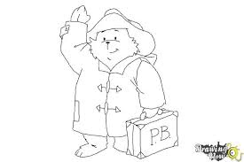 draw paddington bear drawingnow