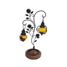 homeshop18 home decor home décor candle stand with hanging lanterns candle holders