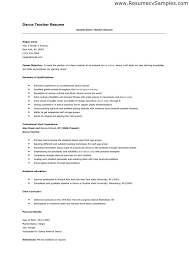 Nursery Teacher Resume Sample by Dance Teacher Resume Sample Best Resume Collection