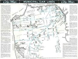 muni map check out the bad ol days from this 1940s muni map