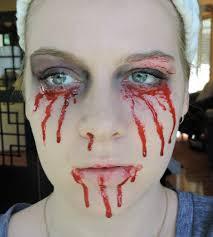 Halloween Scary Makeup Tutorial by Halloween Makeup Tutorial U2013 Bleeding Face U2013 Sammy U0027s Beauty