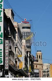 madrid spain an art deco buildings on the gran via stock photo