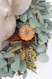 Floral Picks Updating A Fall Wreath Using Floral Picks The Everyday Home