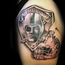 raider tattoos 40 oakland raiders tattoos for men football ink