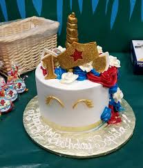 wonderwoman tres leches cake from el bolillo bakery in