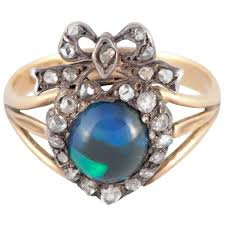 turquoise opal engagement rings victorian black opal diamond silver gold cocktail ring at 1stdibs