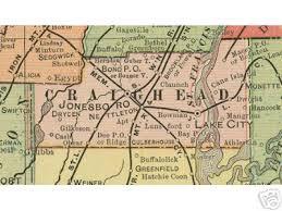map of jonesboro ar craighead county arkansas genealogy history maps with jonesboro