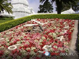 Botanical Garden Golden Gate Park Floral Clocks Photo Gallery Americlock