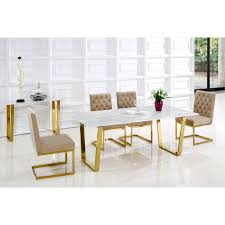 cameron gold dining table by meridian furniture 712 t meridian