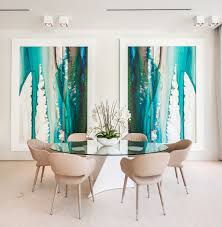 Dining Room Wall Art Dining Room Contemporary With Large Scale - Dining room sets miami