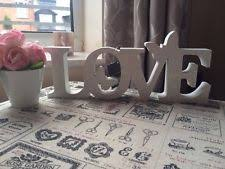silver white sparkle bling standing home decor letters