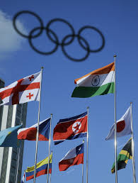 South Korea Flag North Korean Athletes Arrive In South Korea For Olympics The