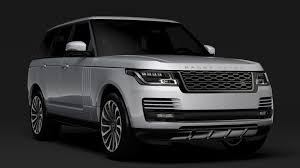 range rover white 2018 range rover vogue se l405 2018 3d cgtrader