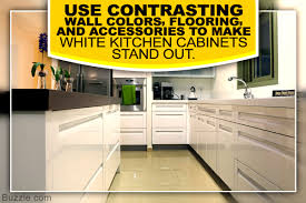 White Kitchen Cabinets Wall Color by The Pristine Look Decor Ideas For A Kitchen With White Cabinets
