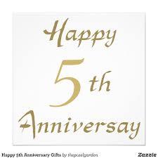 5th year wedding anniversary gift 5th wedding anniversary card simple fifth wedding anniversary