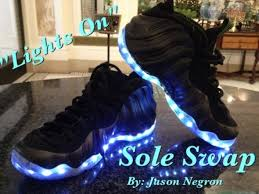 shoes that light up on the bottom nike light up nike air foosite custom shoes by sole swap
