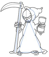 draw grim reaper drawings