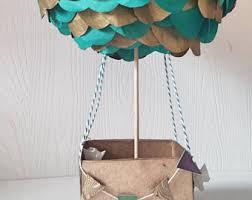 balloon centerpiece hot air balloon centerpiece etsy