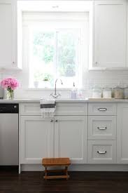Subway Tile Backsplash Kitchen by Get 20 White Shaker Kitchen Cabinets Ideas On Pinterest Without