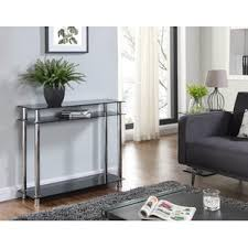 small glass console table narrow glass console table wayfair co uk