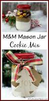 Cookie Mix In A Jar Christmas Gifts M U0026m Mason Jar Cookie Mix Recipe