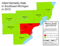 Metro Detroit Map by Metro Detroit Mortality Rates Mapped