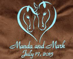 themed throws personalized western themed wedding gift design on