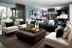 lockhart blue basement living room modern living room