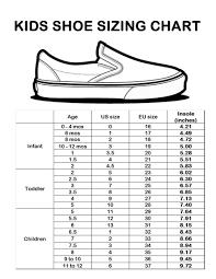 kids shoe size chart sizing chart knox carter bowen