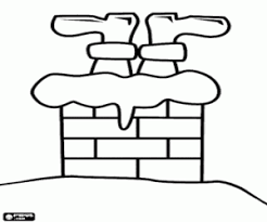 chimneys and fireplaces on christmas coloring pages printable games
