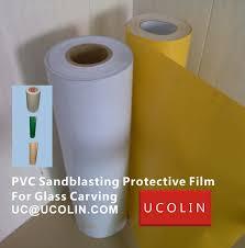 sandblasting protective film for glass engraving u2013 green tape