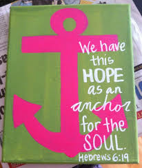 Love Anchors The Soul 8x10 - canvas art anchor love this scripture and the two color