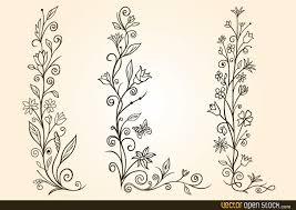ornamental flower design vector